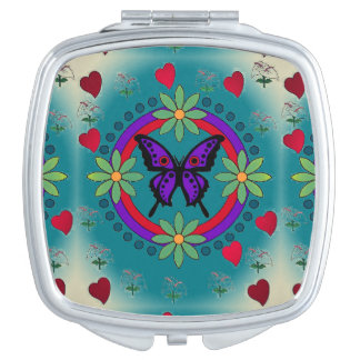 Butterfly Square Compact Mirror