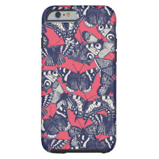 butterfly strawberry pink tough iPhone 6 case