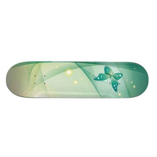 Butterfly Stripes Custom Skateboard
