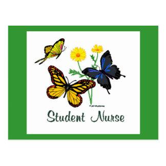 Butterfly Student Nurse Postcard