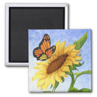 Butterfly & Sunflower Magnet