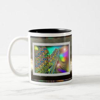 Butterfly Sunrise coffee cup Two-Tone Mug