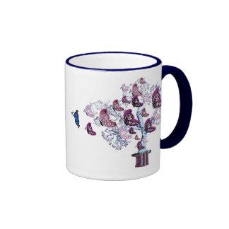 Butterfly Swarm Ringer Mug
