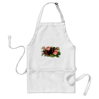 Butterfly & Sweet Pea Floral Garden Gifts Design Standard Apron