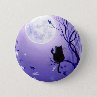 Butterfly Swirl 6 Cm Round Badge
