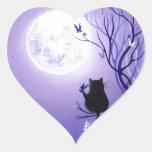 Butterfly Swirl Heart Sticker