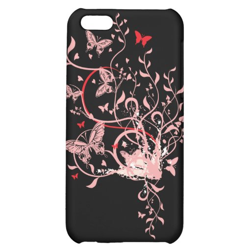 Butterfly Swirl iPhone 5C Cover