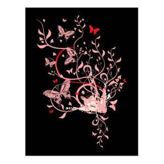 Butterfly Swirl Postcard