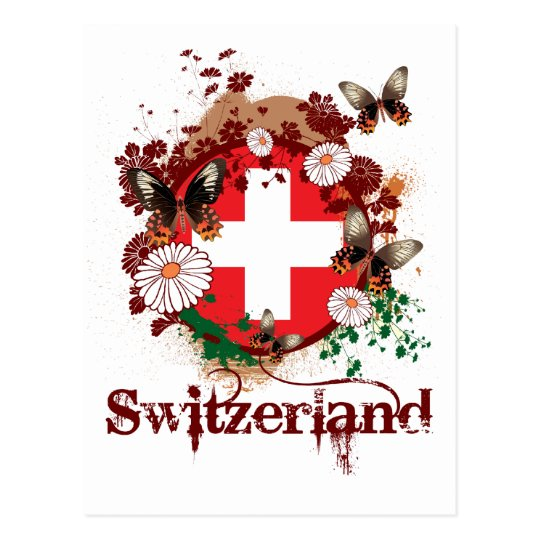 Butterfly Switzerland Postcard