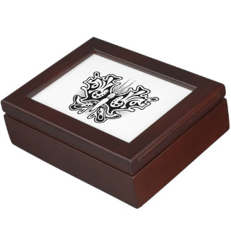 Butterfly Tattoo Black and White Keepsake Box
