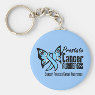 Butterfly Tattoo - Prostate Cancer Basic Round Button Key Ring