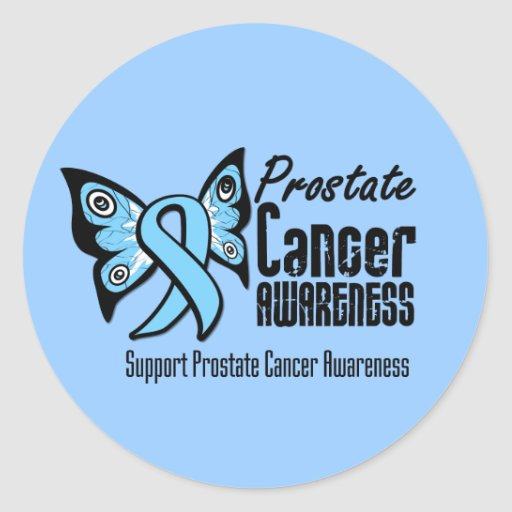 Butterfly Tattoo - Prostate Cancer Sticker