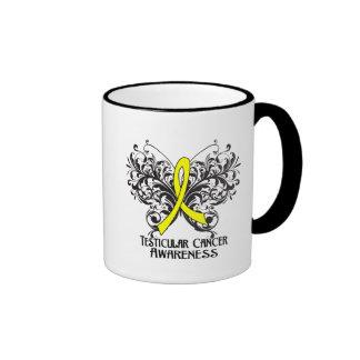 Butterfly Testicular Cancer Awareness Coffee Mugs