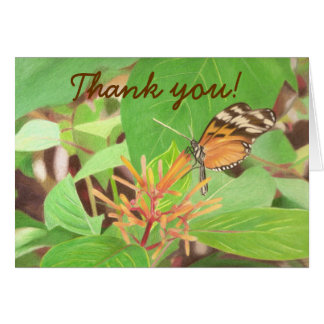 butterfly, Thank you! Greeting Card