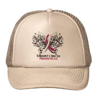 Butterfly Throat Cancer Awareness Hat