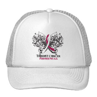 Butterfly Throat Cancer Awareness Hats