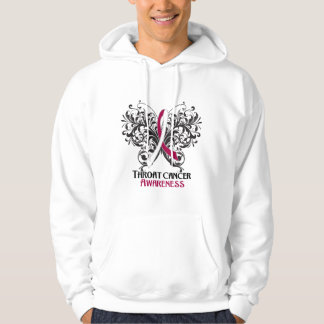 Butterfly Throat Cancer Awareness Hoodie