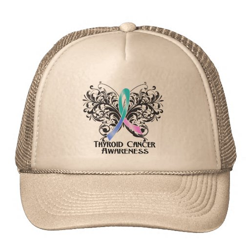 Butterfly Thyroid Cancer Awareness Mesh Hats