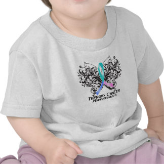 Butterfly Thyroid Cancer Awareness Tees