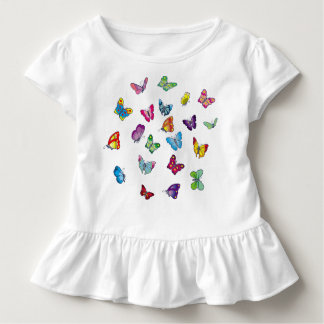 butterfly Toddler Ruffle Tee