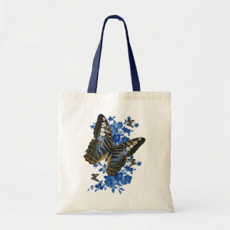 Butterfly Tote Bag - Butterfly And Flower Bag