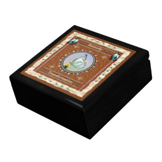 Butterfly  -Transformation- Wood Gift Box w/ Tile