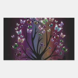 Butterfly Tree Rectangular Sticker