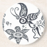 Butterfly Tribal Design Coaster