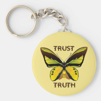 BUTTERFLY - TRUST - TRUTH BASIC ROUND BUTTON KEY RING