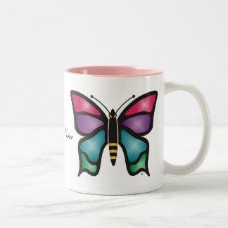 Butterfly Two-Tone Mug