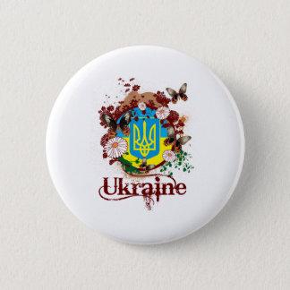 Butterfly Ukraine 6 Cm Round Badge