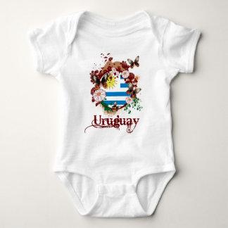 Butterfly Uruguay Baby Bodysuit