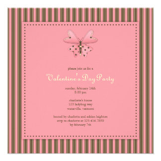 Butterfly Valentine s Day Party Invitation