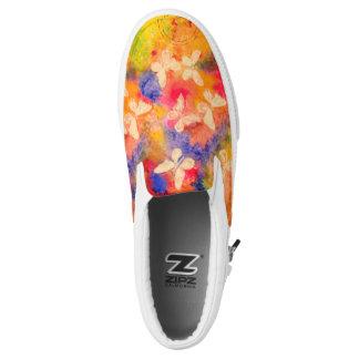 Butterfly Vestige Zipz Slip On Shoe Printed Shoes