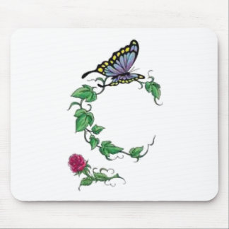 butterfly vine rose mouse pad
