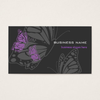 Butterfly Violet & Dark Elegant Modern Business Card