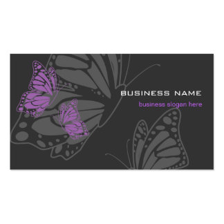 Butterfly Violet & Dark Elegant Modern Pack Of Standard Business Cards