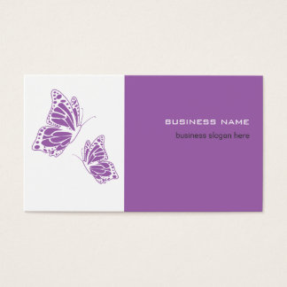 Butterfly Violet & White Elegant Modern Simple