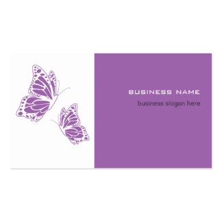 Butterfly Violet & White Elegant Modern Simple Business Card