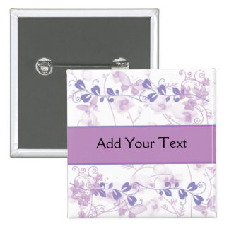Butterfly Vision in Lilac Purple 15 Cm Square Badge