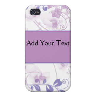 Butterfly Vision in Lilac Purple iPhone 4/4S Cover