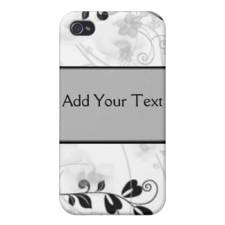 Butterfly Visions in Black and Grey iPhone 4 Covers