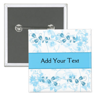 Butterfly Visions in Blue 15 Cm Square Badge