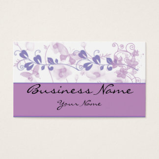 Butterfly Visions in Lilac Purple Business Card
