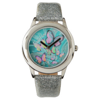 Butterfly Watch! Add Name! Girly Gift! Watch