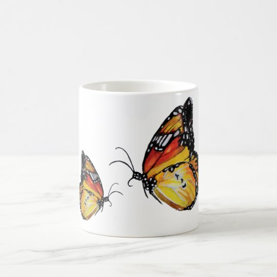 Butterfly watercolor drawingWhite Mug