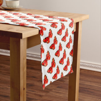 Butterfly Watercolor Red Butterfly Short Table Runner