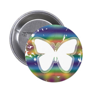 Butterfly waves 6 cm round badge
