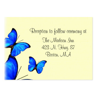 Butterfly Wedding enclosure cards Business Card Template