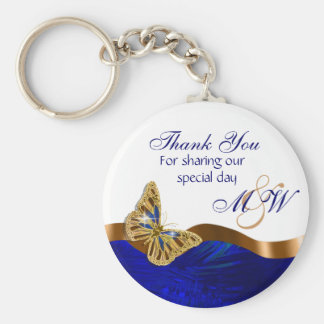 Butterfly wedding favor engagement anniversary key ring